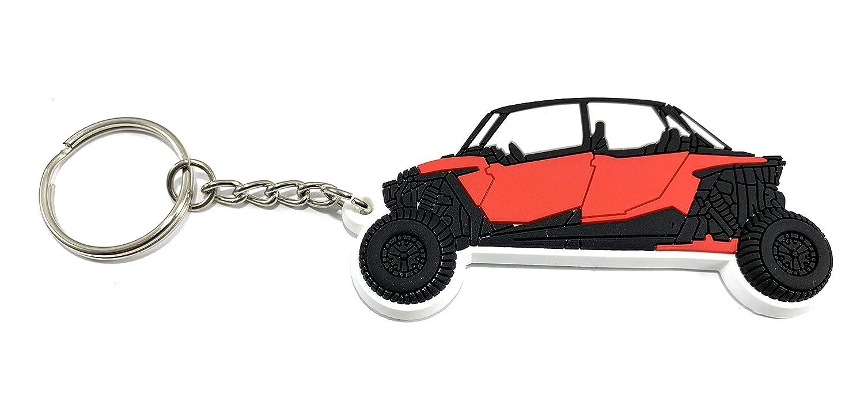 Red Polaris RZR Keychain XP 1000 900 800 4 Seat Hand Drawn Design-FBA