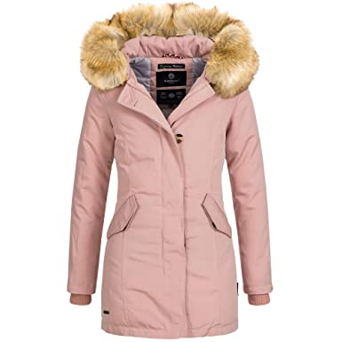 e1b7790c4734bd Marikoo KARMAA Damen Jacke Parka Mantel Winterjacke Warm gefüttert Luxus XXL  Kunstpelz 13 Farben XS-XXXXXL  Amazon.de  Bekleidung