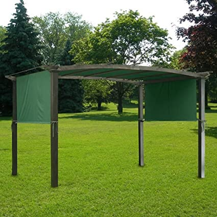 GHP Green UV30+ Polyester 17' x 6-1/2' Pergola Canopy Replacement - Amazon.com : GHP Green UV30+ Polyester 17' X 6-1/2' Pergola Canopy