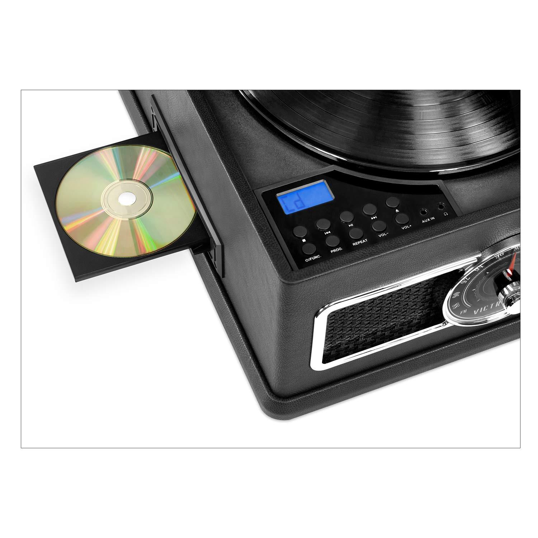 Victrola - Reproductor de grabación Bluetooth 5 en 1 con CD ...