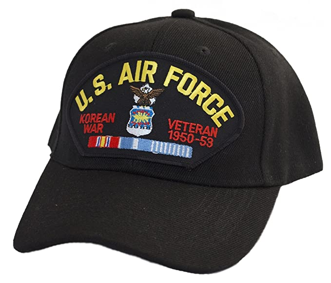 0a2cb5e5736 Image Unavailable. Image not available for. Color  Military Productions US  Air Force Korea Veteran Cap Black