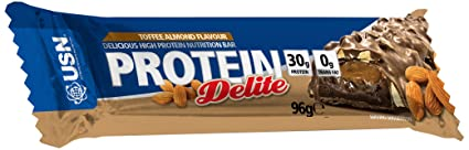 USN Protein Delite Bar Toffee Almond - 12 Barras