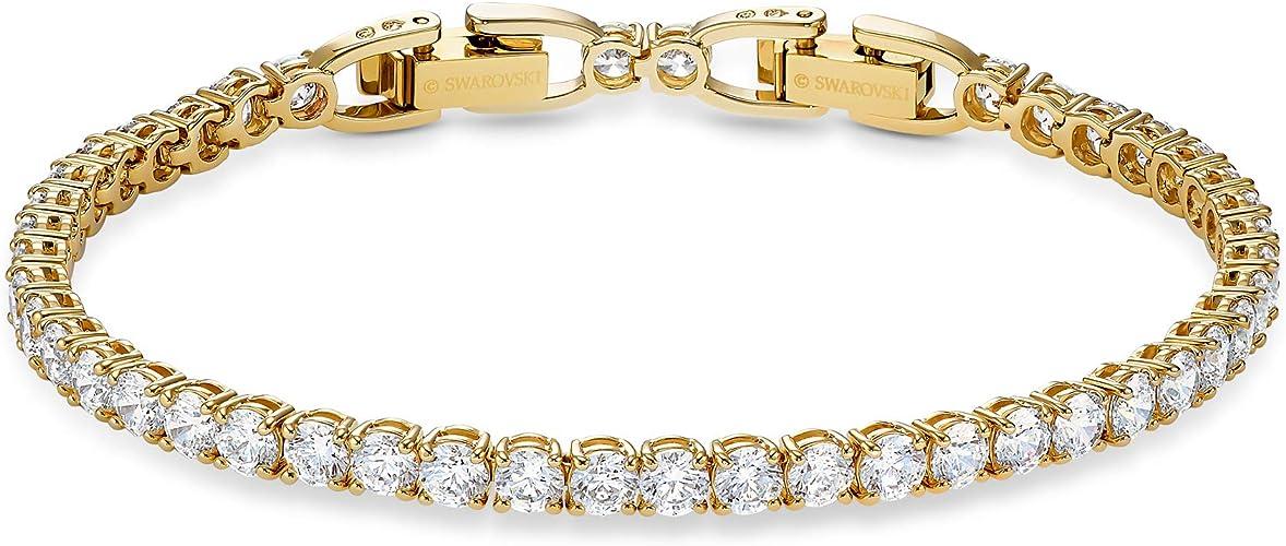 Amazon.com: Swarovski Tennis Deluxe Collection Women's Bracelet ...