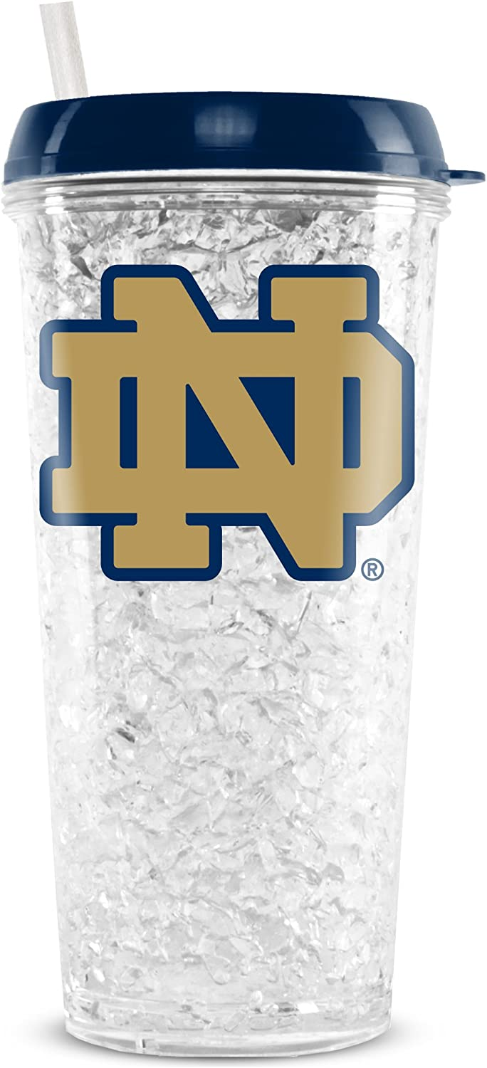 Duck House NCAA Nevada Reno Wolf Pack 16oz Crystal Freezer Tumbler with Lid and Straw