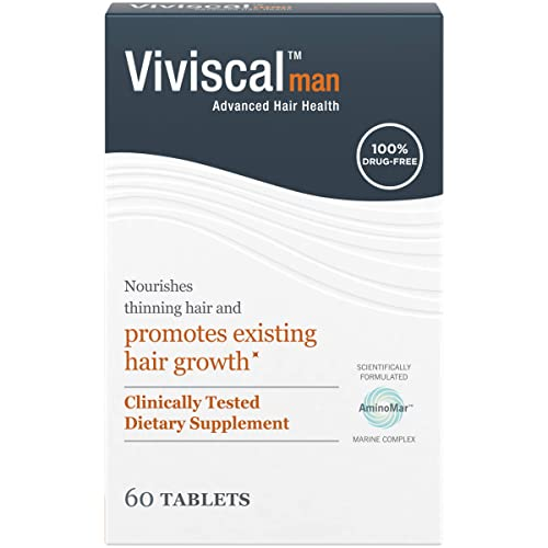 Viviscal Man Hair Growth Supplement, 3 Month Supply, 180 Tablets Exp 2022 & up