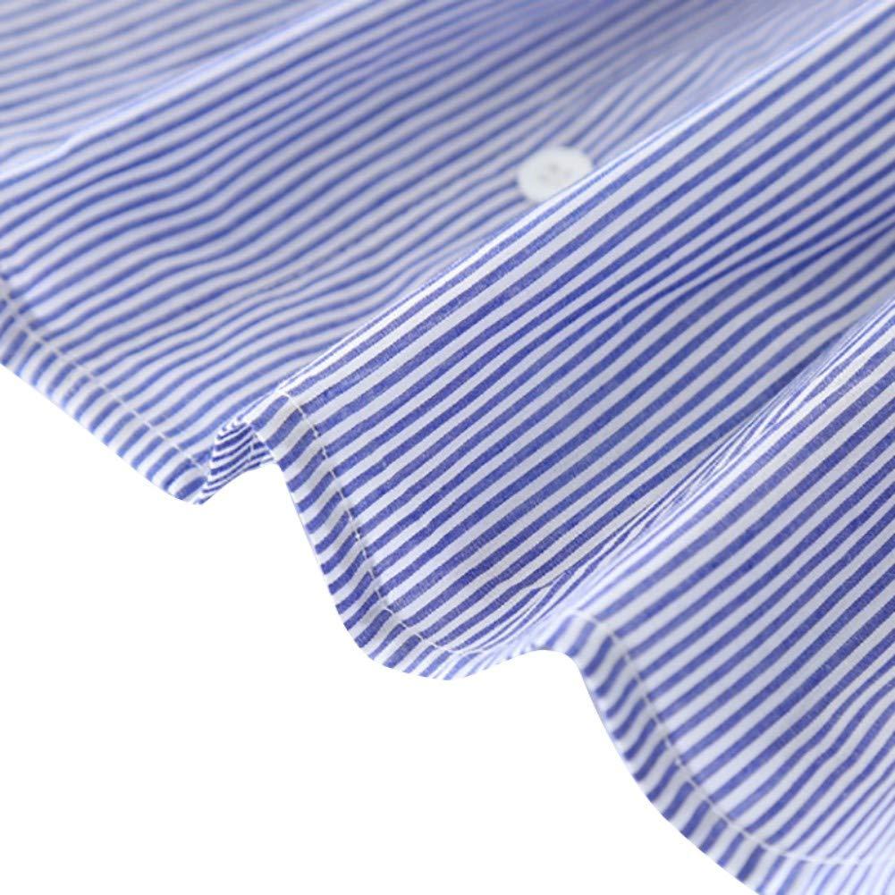 Qlans pour b/éb/és Robes Casual Summer Stripe d/'au Loin-/épaule Impression Robe d/'/ét/é Robe Filles avec Bandeau pour 2-7 Ans