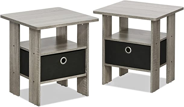 Amazon Com Furinno Andrey End Table Nightstand Set 2 Pack