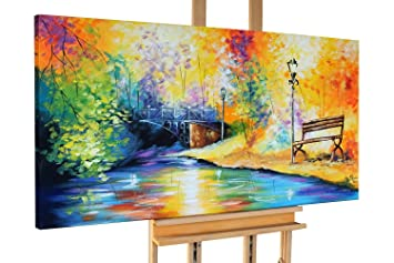 Handgemalte Bilder Auf Leinwand kunstloft acryl gemälde 140x70cm original