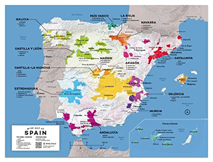 Wine Folly Maps Amazon.com: Wine Folly Spain Wine Map Poster Print, 12
