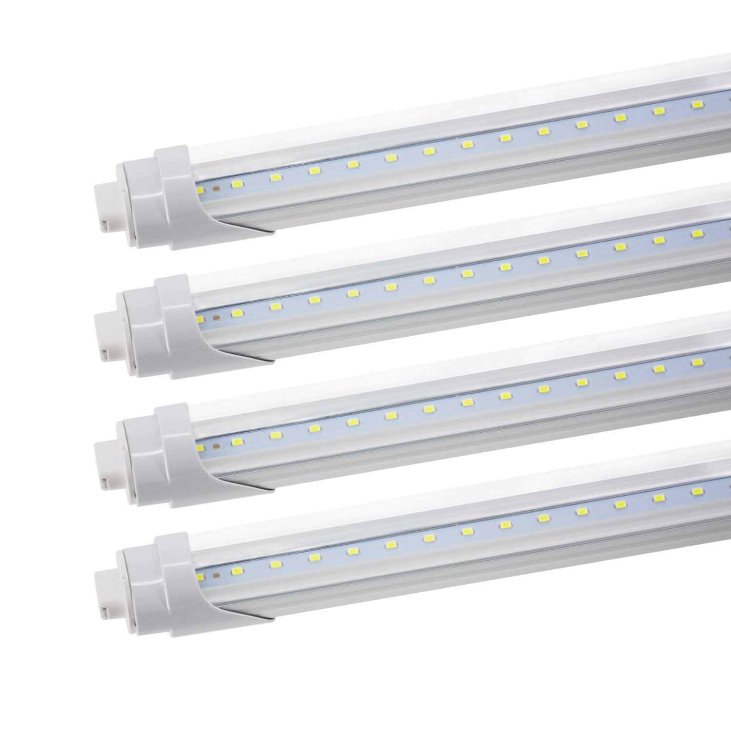 Jesled R17d 8ft T8 T10 T12 Led Tube Light 45w Clear Cover Cool 8 Foot Fluorescent Wiring Diagram White 6000k Replacement For F96t12 Cw Ho 100watt Ballast Bypass 4 Pack
