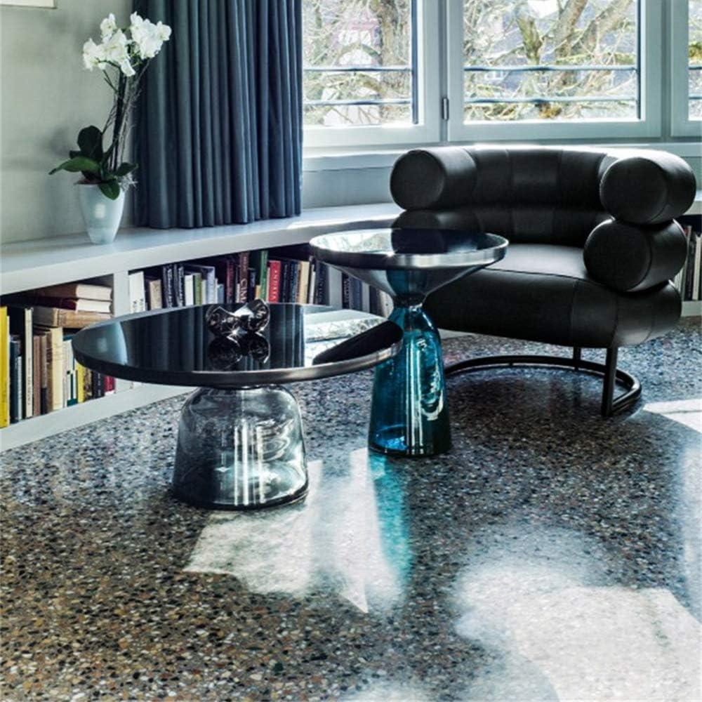 Populair ZRRtables 2-delige set glazen tafel salontafel modern woonkamertafel ronde bijzettafel mini salontafel met metalen frame van messing voor thuis, woonkamer, eetkamer F UkaFmIp