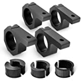 Nilight - 90021D 4PCS Mounting Bracket Kit LED Off-Road Light Horizontal Bar Tube Clamp Roof Roll Cage Holder,2 Years…