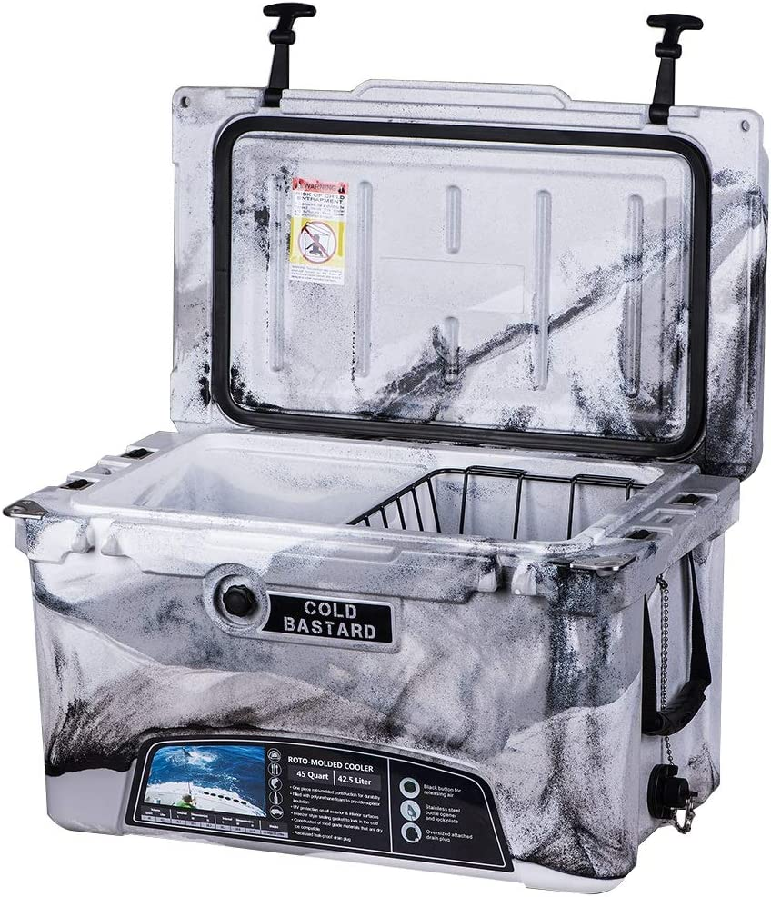 45QT CAMO Sand Grey Cold Bastard Rugged Series ICE Chest Cooler Free Accessories Free S H