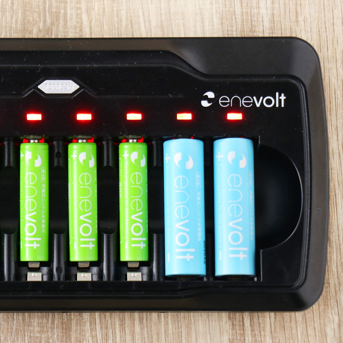 amazon エネボルト enevolt ニッケル水素 充電池用充電器 単3 単4