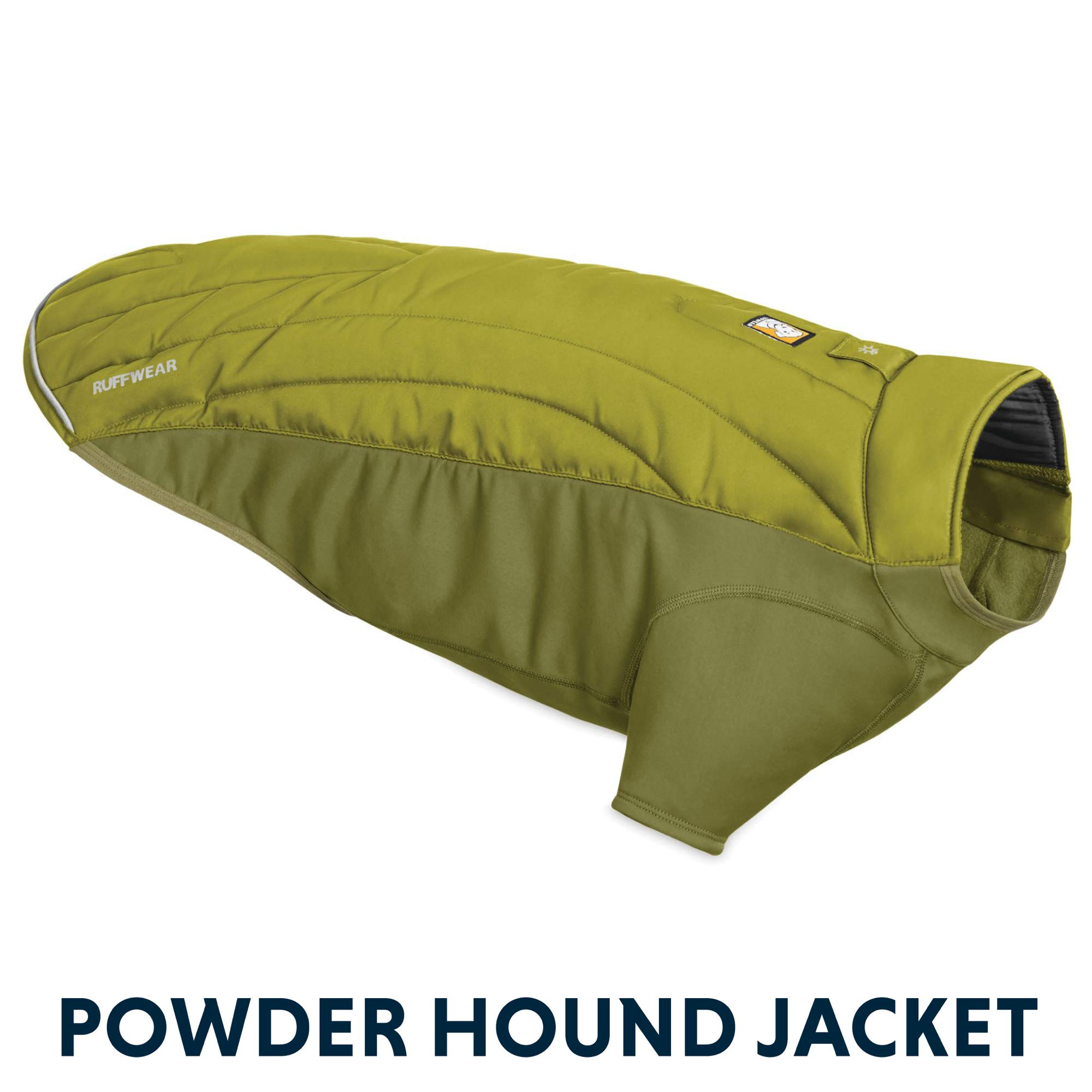 RUFFWEAR - Powder Hound Insulated, Water Resistant Cold Weather Jacket for Dogs, Forest Green, Medium by RUFFWEAR