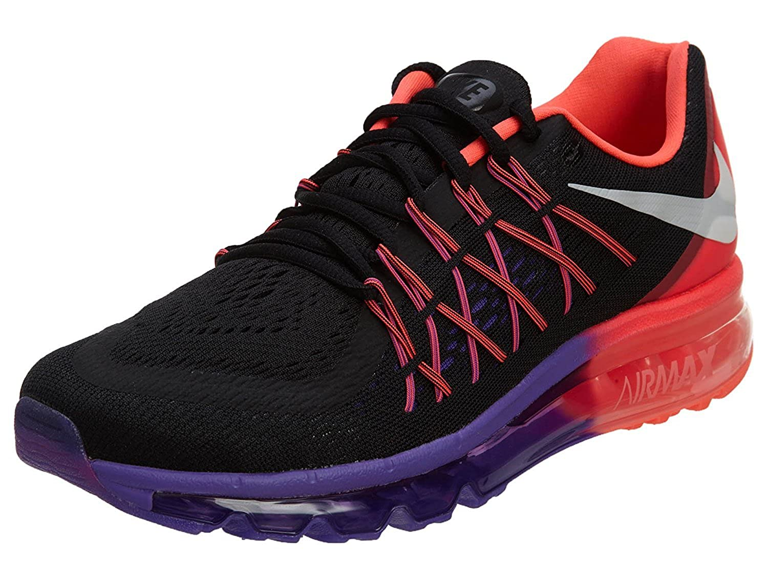 timeless design 0dcc3 c86bb Nike Airmax 2015 Black Red Purple Running Shoes for Womens 698903-011  Buy  Online at Low Prices in India - Amazon.in
