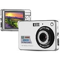 PowerLead Mini Digital Camera Digital Video Camera 2.7inch 8x Digital Zoom HD 720P 18MP Compact Video Camcorders(Silver)