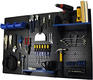 product image for Pegboard Organizer Wall Control 4 ft. Metal Pegboard Standard Tool Storage Kit with Black Toolboard and Blue Accessories