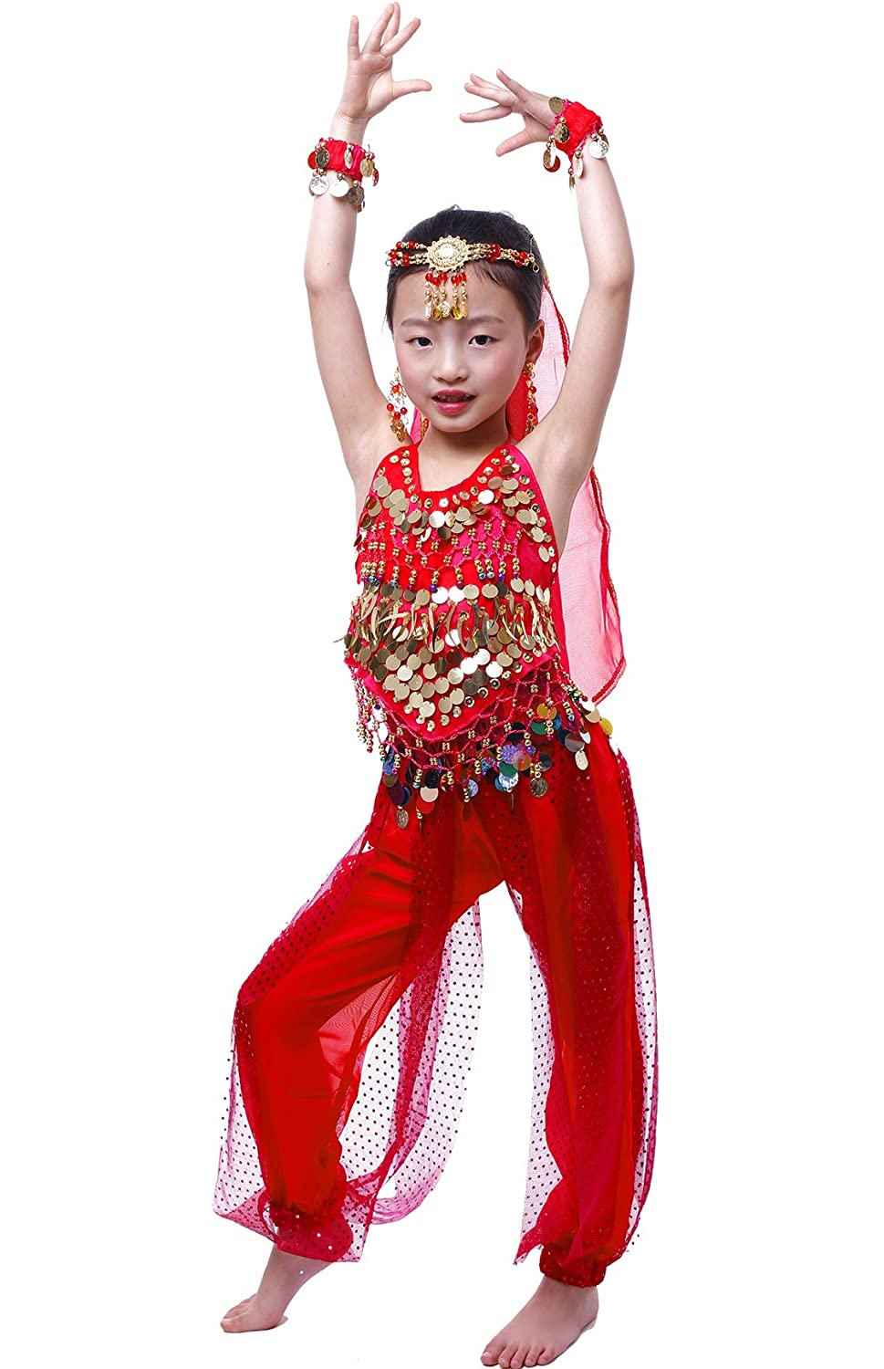 Astage Girls Arabian Princess Costume Belly Dancing Dress Halloween Carnival Set Astage C-LJLD