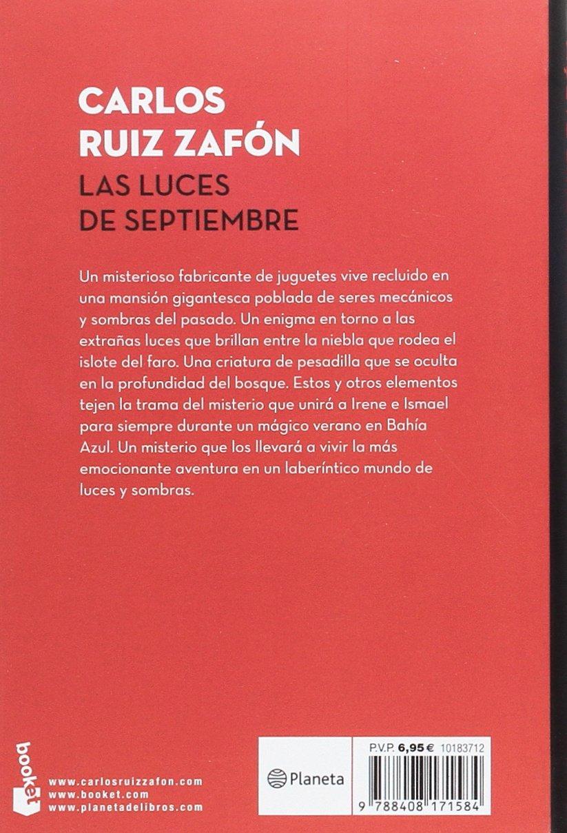 Las luces de septiembre: Carlos Ruiz Zafón: 9788408171584: Amazon.com: Books
