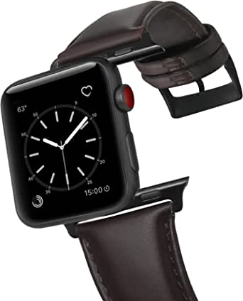 Leather Bracelet for Apple Watch, 40mm, F10, Dark Brown