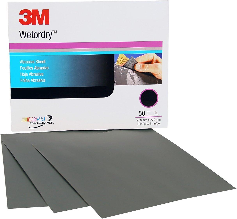 3M Wetordry Abrasive Sheet, 02034, 1000, 9 in x 11 in, 50 sheets per carton 717XjNk0Y2L