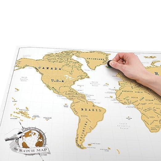 Amazoncom SCRATCH MAP Original Personalized World Map Poster - Amazon map of us