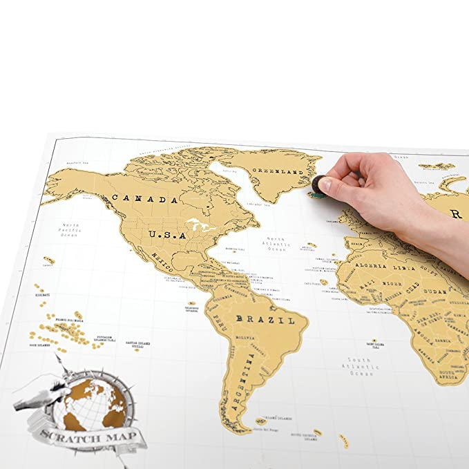 Amazon scratch map original scratch off map personalized world amazon scratch map original scratch off map personalized world travel map poster with countries states cities manufactured in the uk office gumiabroncs Images