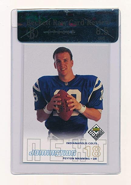 Verzamelkaarten, ruilkaarten Amerikaans voetbal 1998 Upper Deck UD Choice #256 Peyton Manning Indianapolis Colts Football Card