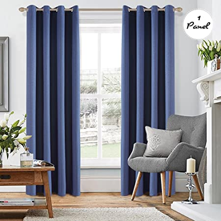 Captivating KINLO 1 Panel 140 X 260 Cm Eyelet Blackout Curtains Cationic Velvet Curtain  Thermal Insulation 90