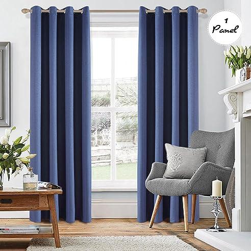 1pcs kinlo blickdicht gardine sen verdunklungsvorhnge 140x260cm blau vorhang verdunklung in wohnzimmer schlafzimmer aus baumwolle - Vorhang Schlafzimmer Blau
