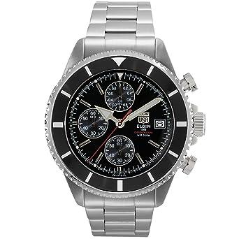 93ea86d281 [エルジン]ELGIN 腕時計 メンズウォッチ クロノグラフダイバーズ 200M防水 ブラック×シルバー FK1418S