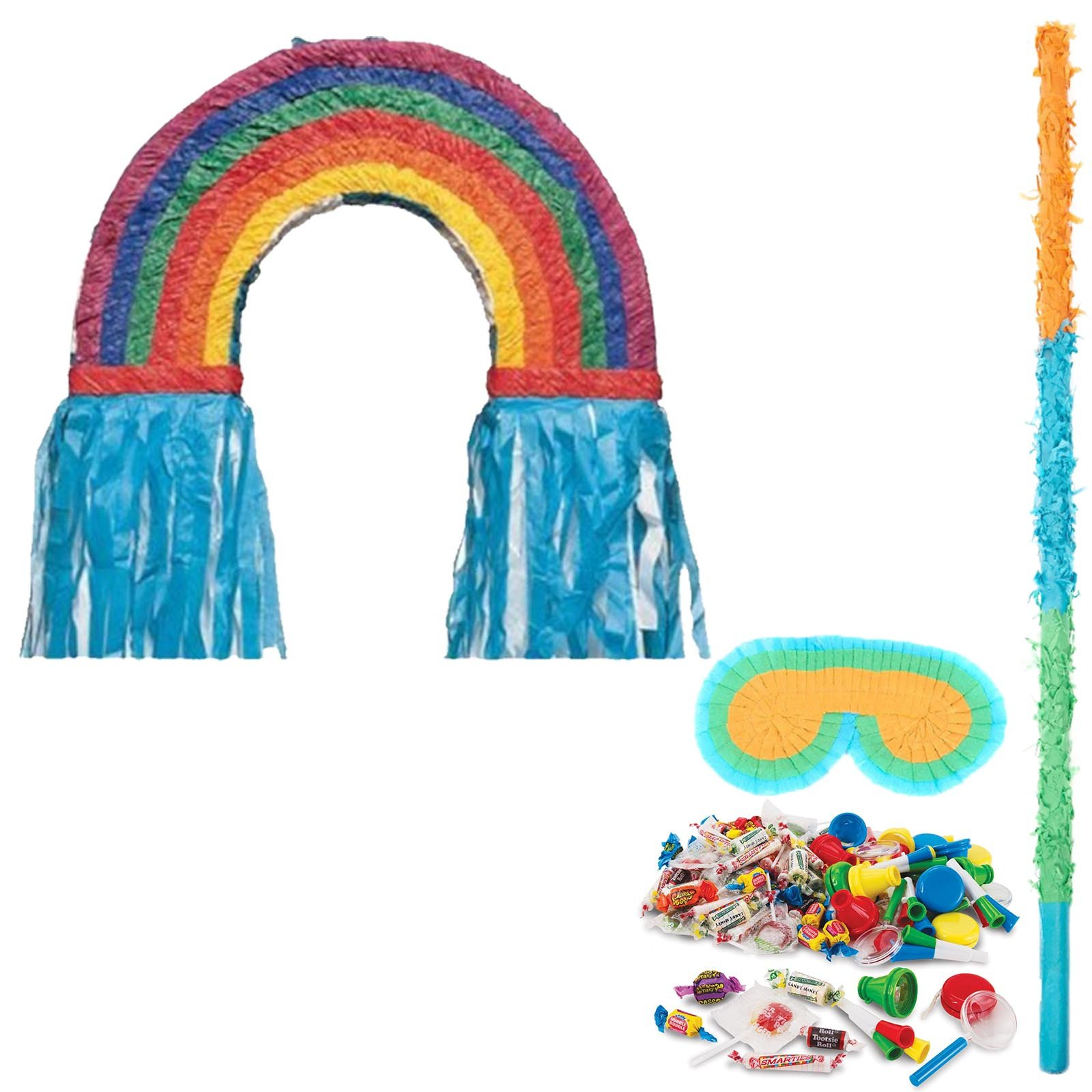 BirthdayExpress Rainbow Party Supplies Pinata Kit