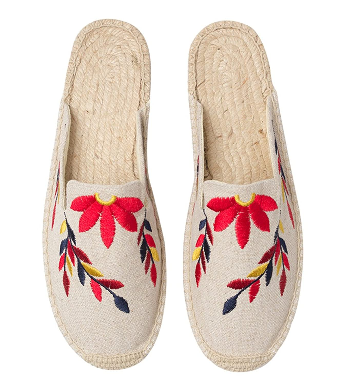 ACE SHOCK Loafer Flats Women Slip-on, Casual Moccasins Shoes Slippers Sandals Embroidery