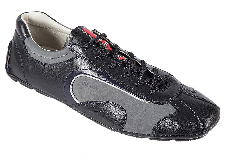 Prada Scarpe Sneakers Uomo in Pelle Nuove Montecarlo Blu
