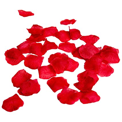 Amazon red silk flower artificial rose petals for wedding aisle red silk flower artificial rose petals for wedding aisle party favor table vase mightylinksfo