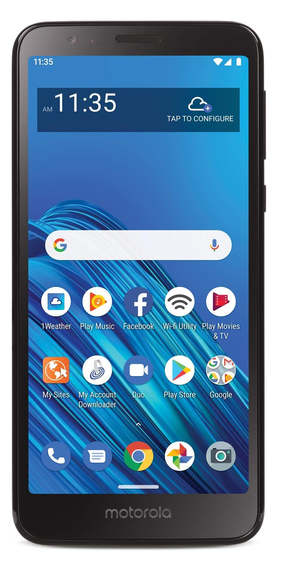 Net10 Motorola Moto E6 4G LTE Prepaid Smartphone (Locked) - Black - 16GB - Sim Card Included - CDMA