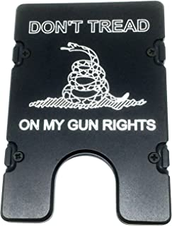 product image for HMC Billet Don't Tread On My Gun Rights RFID Protection Credit Card Holder Aluminum Wallet, Black