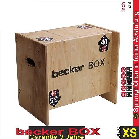 Becker-Sport Germany Becker Box XS - Primero en el mundo, CAJA 5 en 1, (BSG 28951) caja plyo única con 5 alturas de salto: Amazon.es: Deportes y aire libre