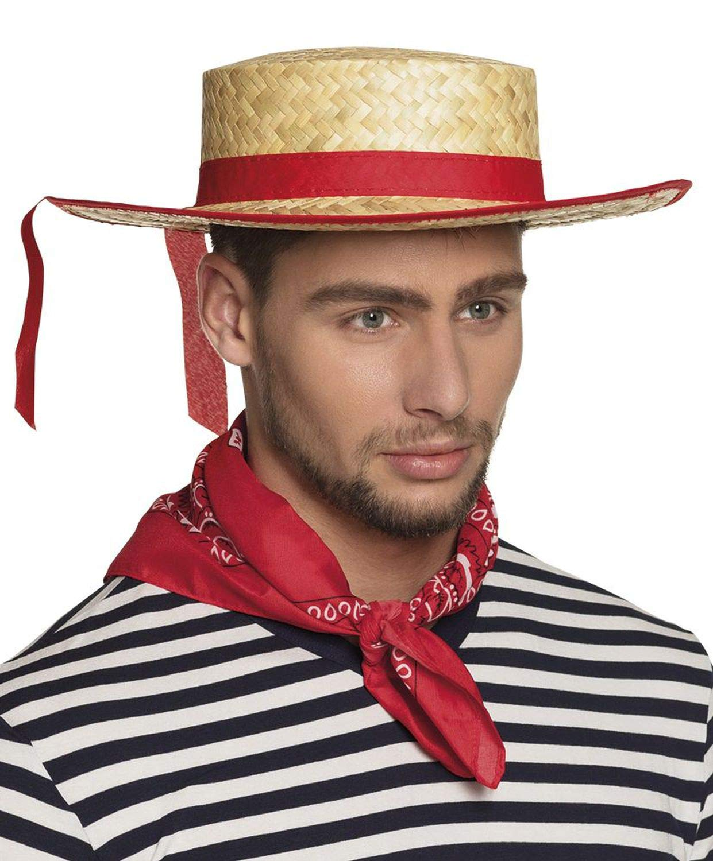 Cappello da gondoliere da Fascia Rossa per Adulto Boland Generique