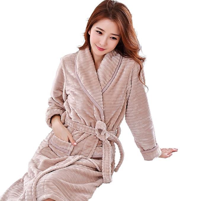 DFUCF Traje De Pijama De Franela De Mujer Albornoz Pijamas De Coral Suaves De Cachemira De