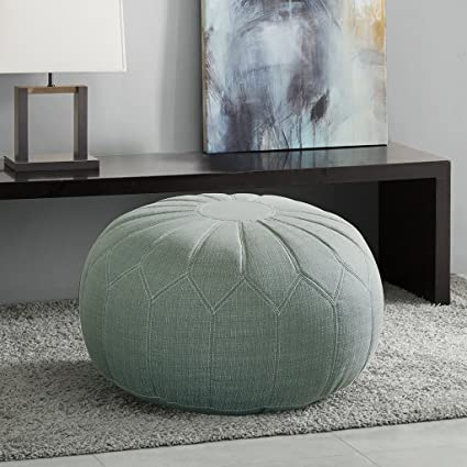 Charming Madison Park Kelsey Round Pouf Ottoman Seafoam See Below Awesome Ideas