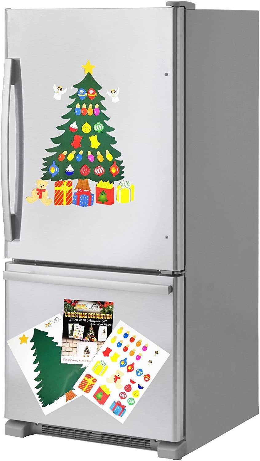 Christmas Decoration. Animated Tree Magnet Set. Perfect For Winter Decorations. Fridge, Metal Door, Garage, Classroom. Give Gift. Ornament Décor. If You Like Elf on The Shelf You'll Love This Too.