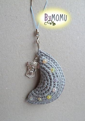 Llavero LUNA Crochet- Gris con Rottweiller: Amazon.es: Handmade