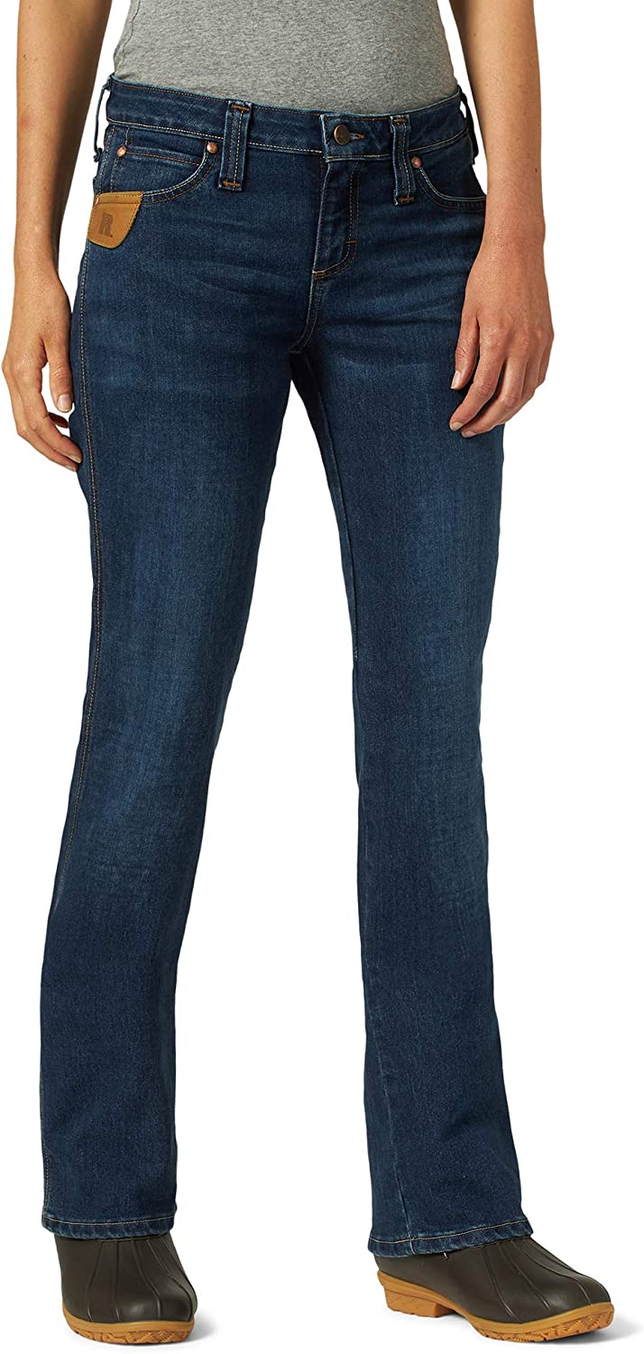 Wrangler Riggs Workwear Women's 5 Pocket Boot Cut Jean: Clothing