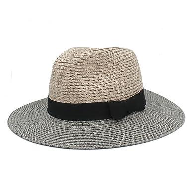 RZL Sombreros Gorras Para Señora Elegante Sombrero de Panamá de Ala Ancha Caballero Dad Fedora Gorra ...