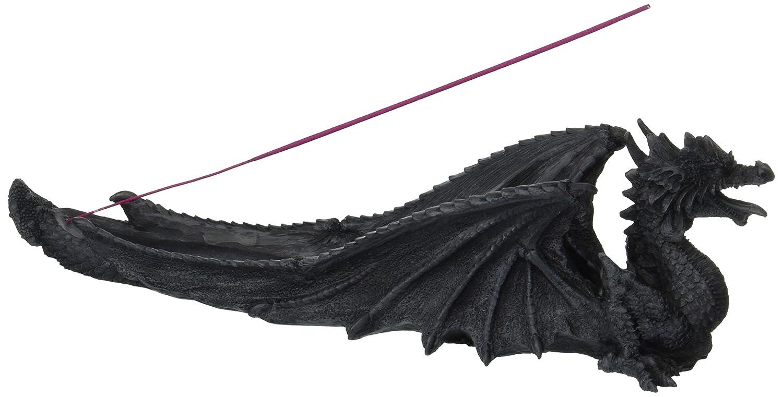 Major-Q G9071750 10.75 Wide Resin Medieval Magical Mythical Purple Western Dragon Decor Incense Holder Burner for Home Party
