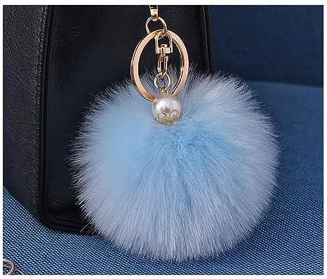 Amazon.com: Llavero para mujer con diseño de pompón y bolas ...