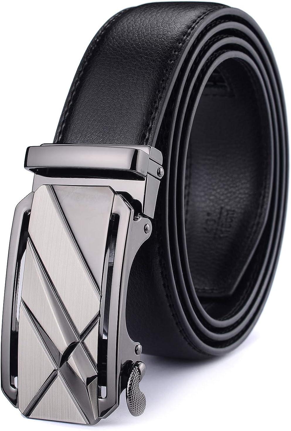 XX-Large X XHtang Noir avec fermeture automatique largeur 3,5 cm Ceinture /à boucle automatique pour homme