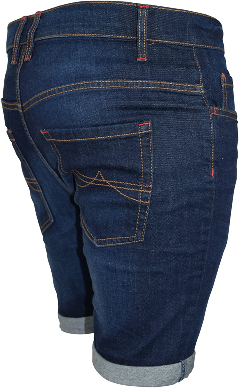 con elastano superel/ásticos Pantalones vaqueros cortos para hombre